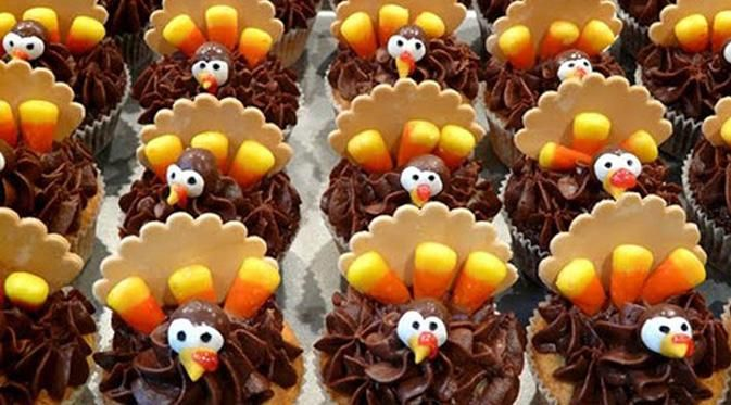 Cupcake Desain Turkey