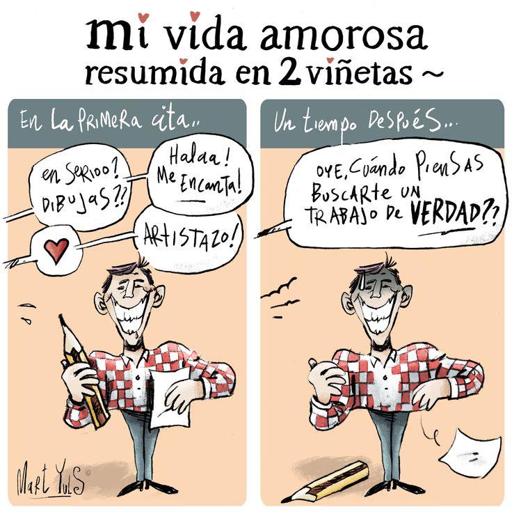 mi vida amorosa resumida en dos viñetas.. ♥ ~
