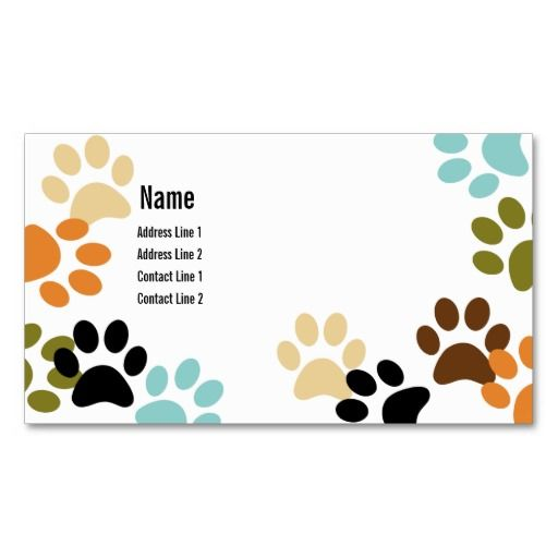 262 best animal pet care business cards images on pinterest card dog paw prints business card colourmoves