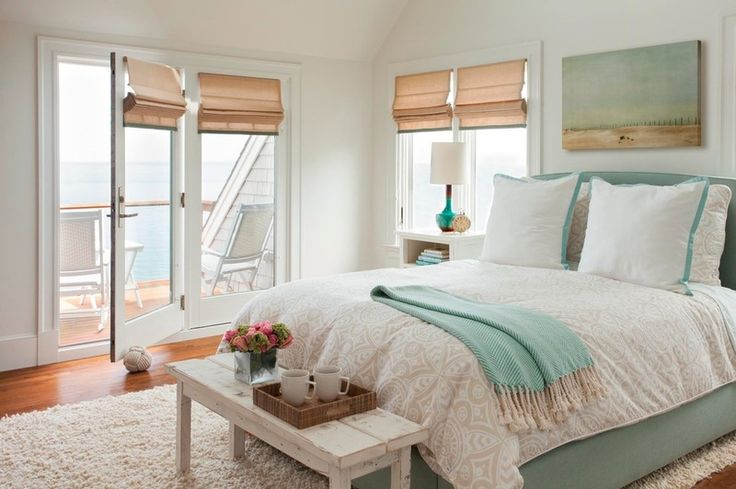 Coastal Bedroom by LeBlanc Design