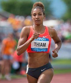 Nafi Thiam won zilver bij het hoogspringen op het EK voor beloften in Tallinn.