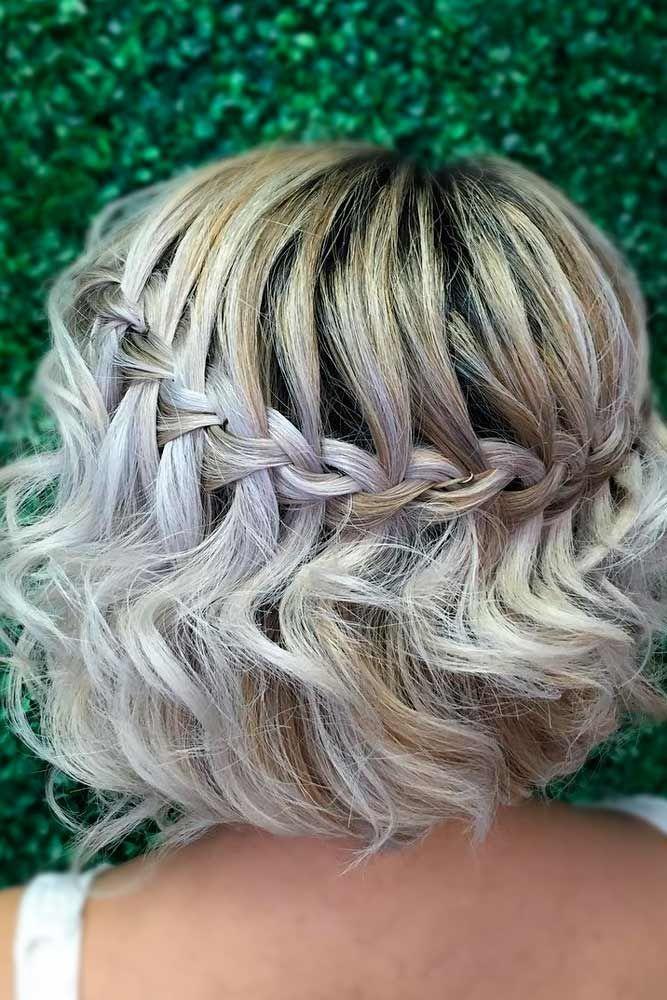 Charming Braided Hairstyles for Short Hair ★ See more: http://lovehairstyles.com/braided-hairstyles-for-short-hair/