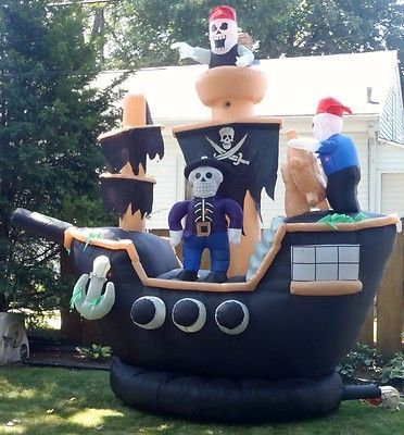 image result for inflatable halloween yard decorations pirate ship