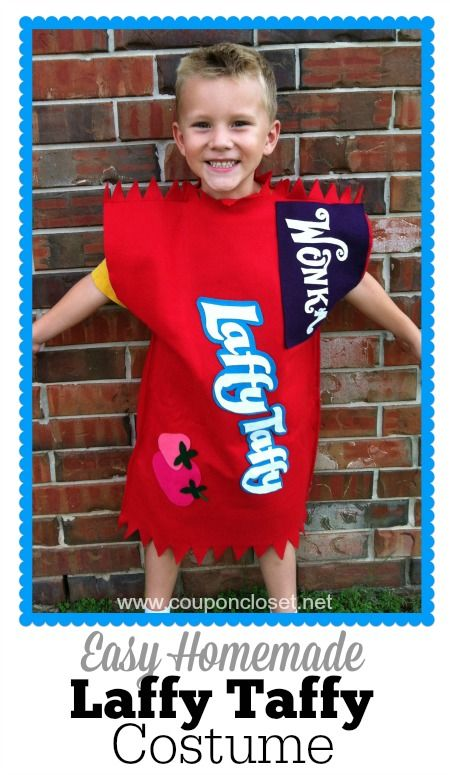 Homemade Laffy Taffy Costume is so easy to make and cost us less than ...