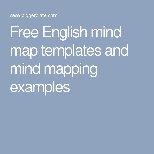 Free English mind map templates and mind mapping examples