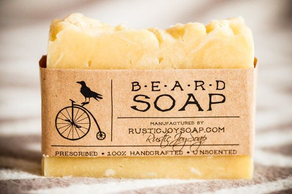 Hipster Beard Soap  natural soaphomemade soapsoap by RusticJoySoap