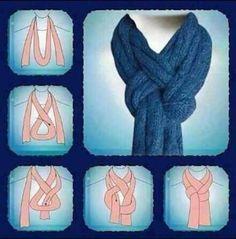 """Astuce """"mode"""" : Nouer (autrement) une écharpe ou un foulard"""