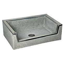 Mop Sink, 36x24x12In, Black/White  for dogwash sink in the mudroom :)
