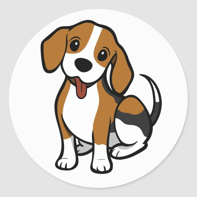 Beagle Puppy Dog Cartoon Love Beagles Stickers Zazzle Com