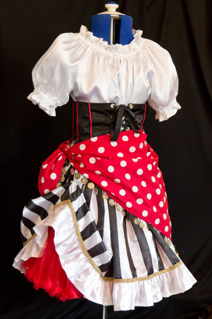 Girl's DELUXE PIRATE Costume Girls size 12/14/16 by mom2rtk on Etsy