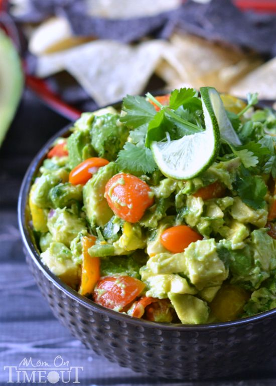 This Chunky Avocado Salsa is a must-have at any party! | MomOnTimeout.com | #appetizer #recipe