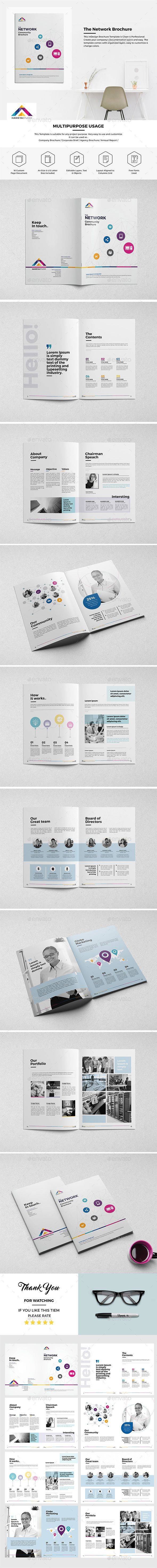 Haweya Community Brochure 16 Pages  #brochure #brochure design #business • Available here → http://graphicriver.net/item/haweya-community-brochure-16-pages/15582093?ref=pxcr