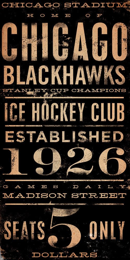 CHICAGO BLACKHAWKS hockey club original graphic by geministudio. $385.00, via Etsy.
