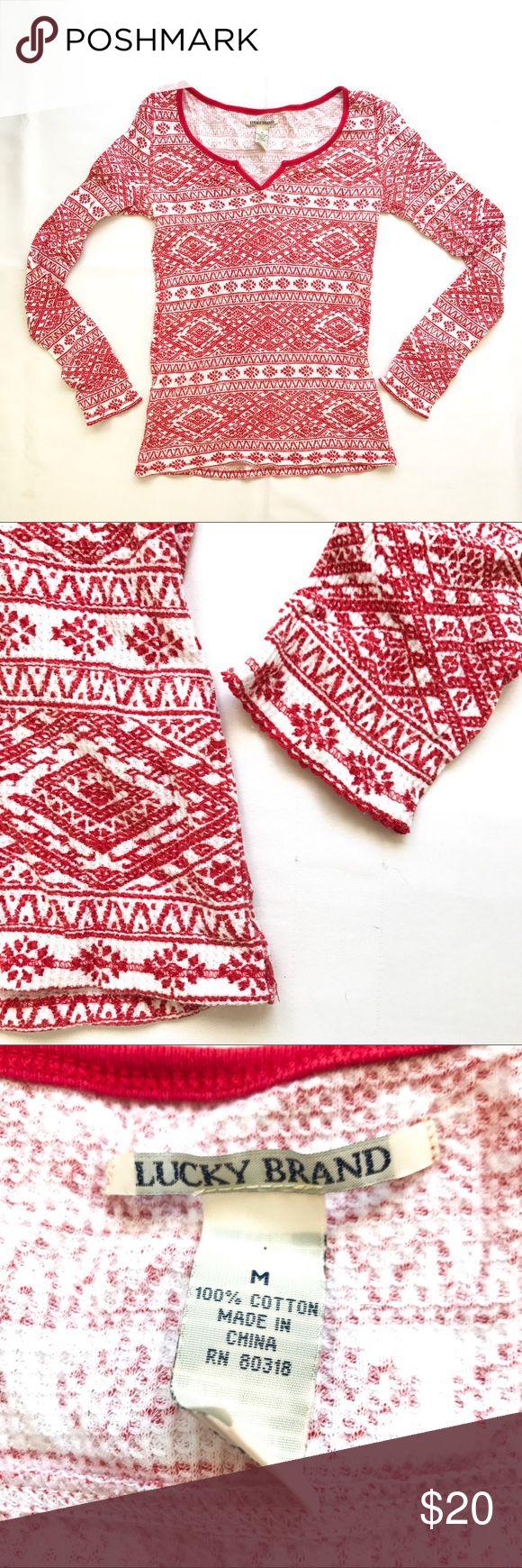 Lucky Brand top Lucky Brand Aztec print long sleeve top Lucky Brand Tops Tees - Long Sleeve