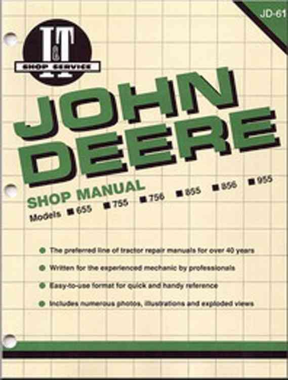 John Deere Shop Manual Models 655 755 855 856 955