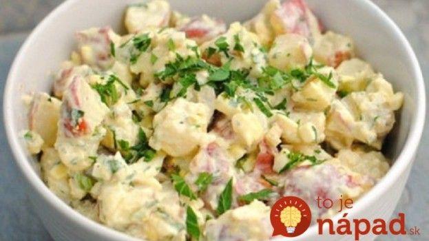 Ľahký zemiakový šalát s cibuľkou