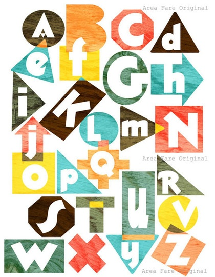 playful abc #alphabet #illustration #typography