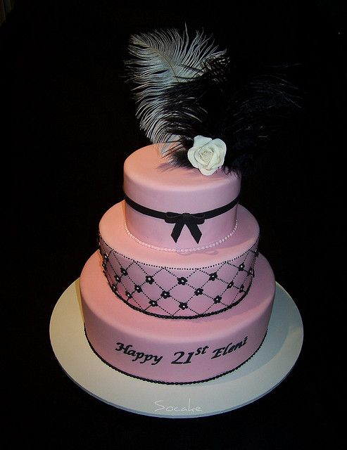 Eleni's 21st Birthday cake by Sandra (socake), via Flickr
