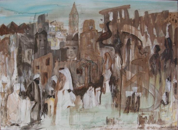 Egypt - mystikkens land | painting - Amalie Ree