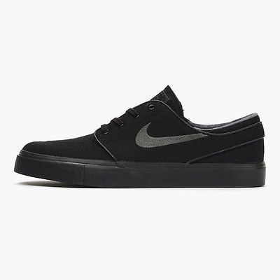 Nike SB Zoom Stefan Janoski Canvas Mens 615957-005 Black Skateboard Shoes Sz 6