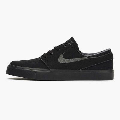 Nike SB Zoom Stefan Janoski Canvas Mens 615957-005 Black Skateboard Shoes Sz 6