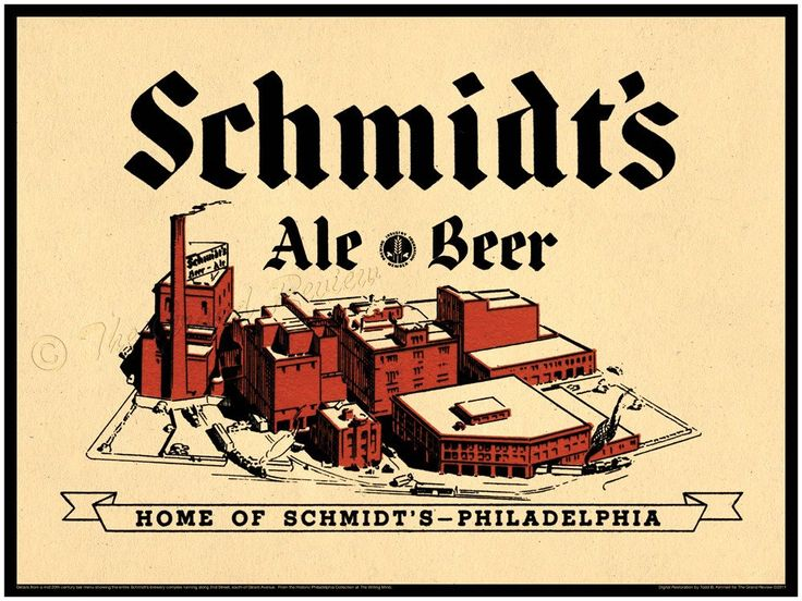 Vintage German American Print - Schmidts of Philadelphia - Northern Liberties Brewery - German American Beer - 2nd Street and Girard Avenue