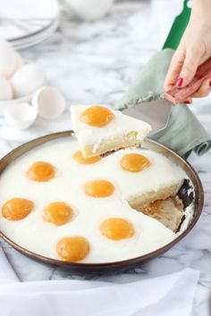 Receta Pastel de huevos fritos - Megasilvita #spiegeleierkuchen
