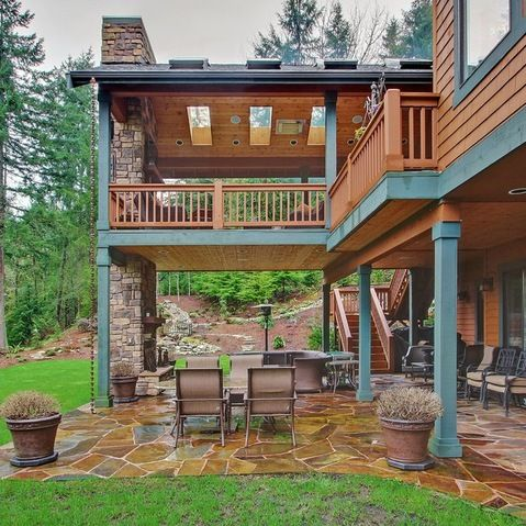 Would love a second floor full sized deck instead of the Juliet balcony we have now #PinMyDreamBackyard