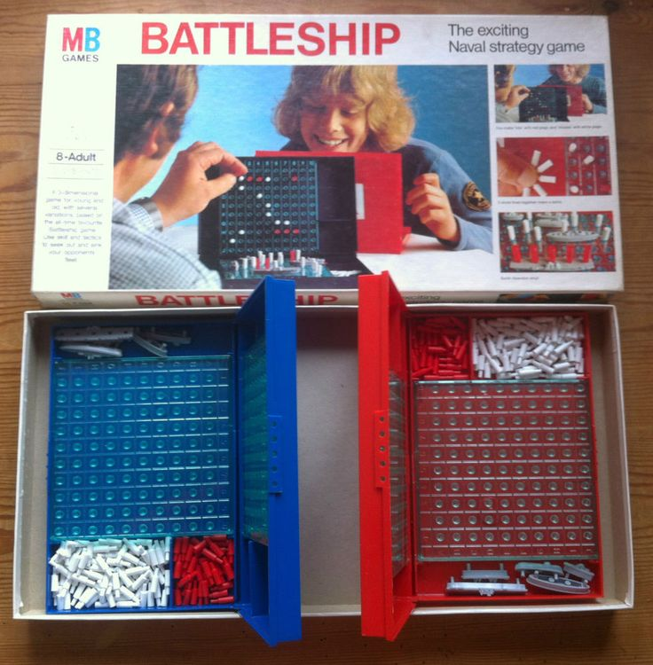 Vintage Board Game - Battleship by MB 1980s Classic NICE !