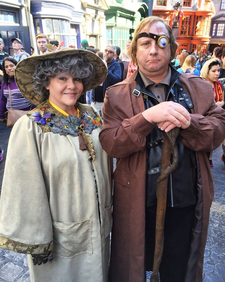 35 Creative Costumes For Harry Potter Superfans Professor Sprout and Mad-Eye Moody