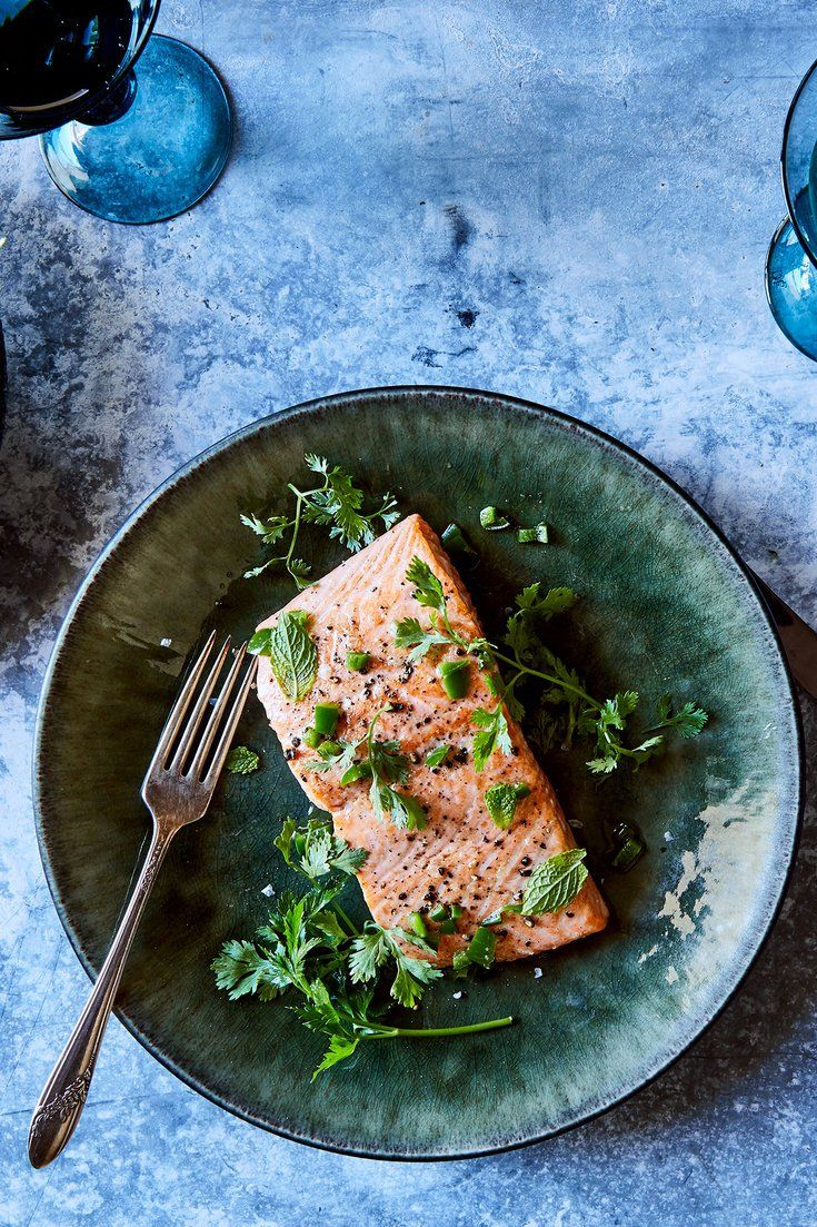 Here is a simple, easy preparation for salmon that allows wild-caught fish, especially, to shine The foaming butter amplifies the richness of the flesh, while the jalapeños keep it in check, as soy sauce does to the fattiest sushi Some prefer to reverse the order of the cooking, so that the fish is served skin-side up, but I find that cooking it this way allows the butter to do its job more effectively and delivers a more beautiful plate of food as well