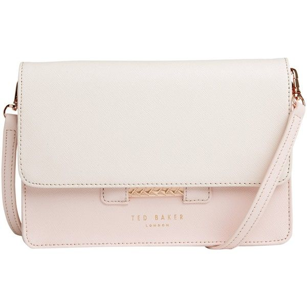 Ted Baker Mariann Leather Across Body Bag (1.045 DKK) ❤ liked on Polyvore featuring bags, handbags, shoulder bags, nude, floral shoulder bag, leather crossbody, leather crossbody purse, leather cross body handbags and crossbody purse