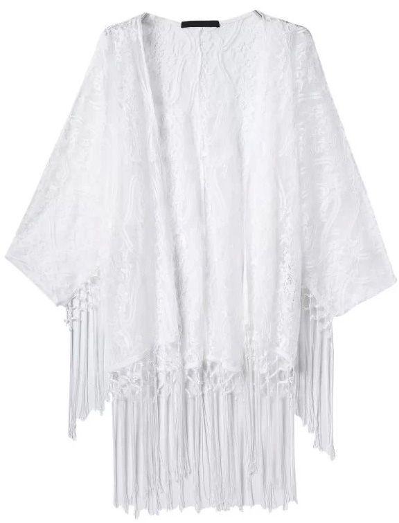 Kimono encaje flecos-blanco 19.32