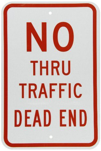 SmartSign 3M Engineer Grade Reflective Sign Legend No Thru Traffic Dead End 18 high x 12 wide Red on White >>> Find out more about the great product at the image link.