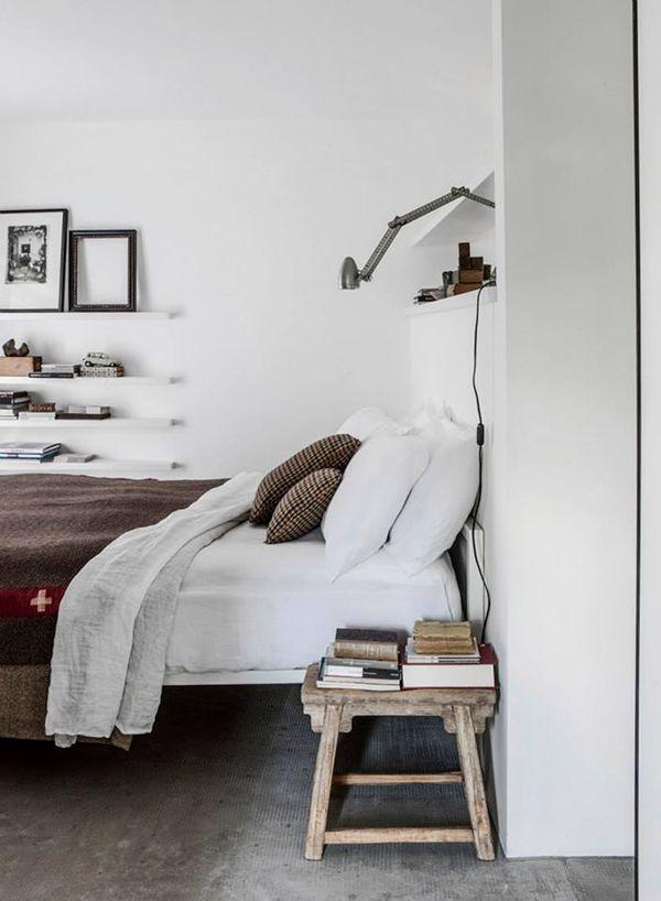 Stool as nightstand