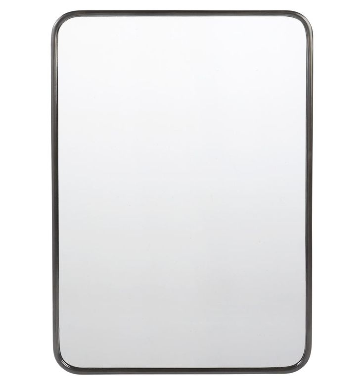 30in. x 40in. Metal Framed Mirror - Rounded Rectangle Oil-Rubbed Bronze