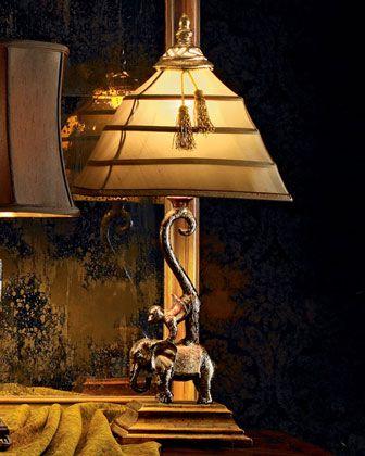 Elephant U0026 Monkey Lamp