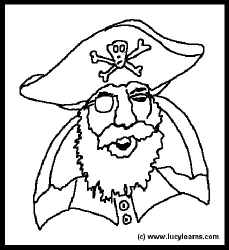 pirate coloring pages elementary - photo#28