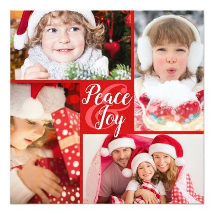 Peace and Joy to You and Yours New Year's Greeting Card - invitations personalize custom special event invitation idea style party card cards