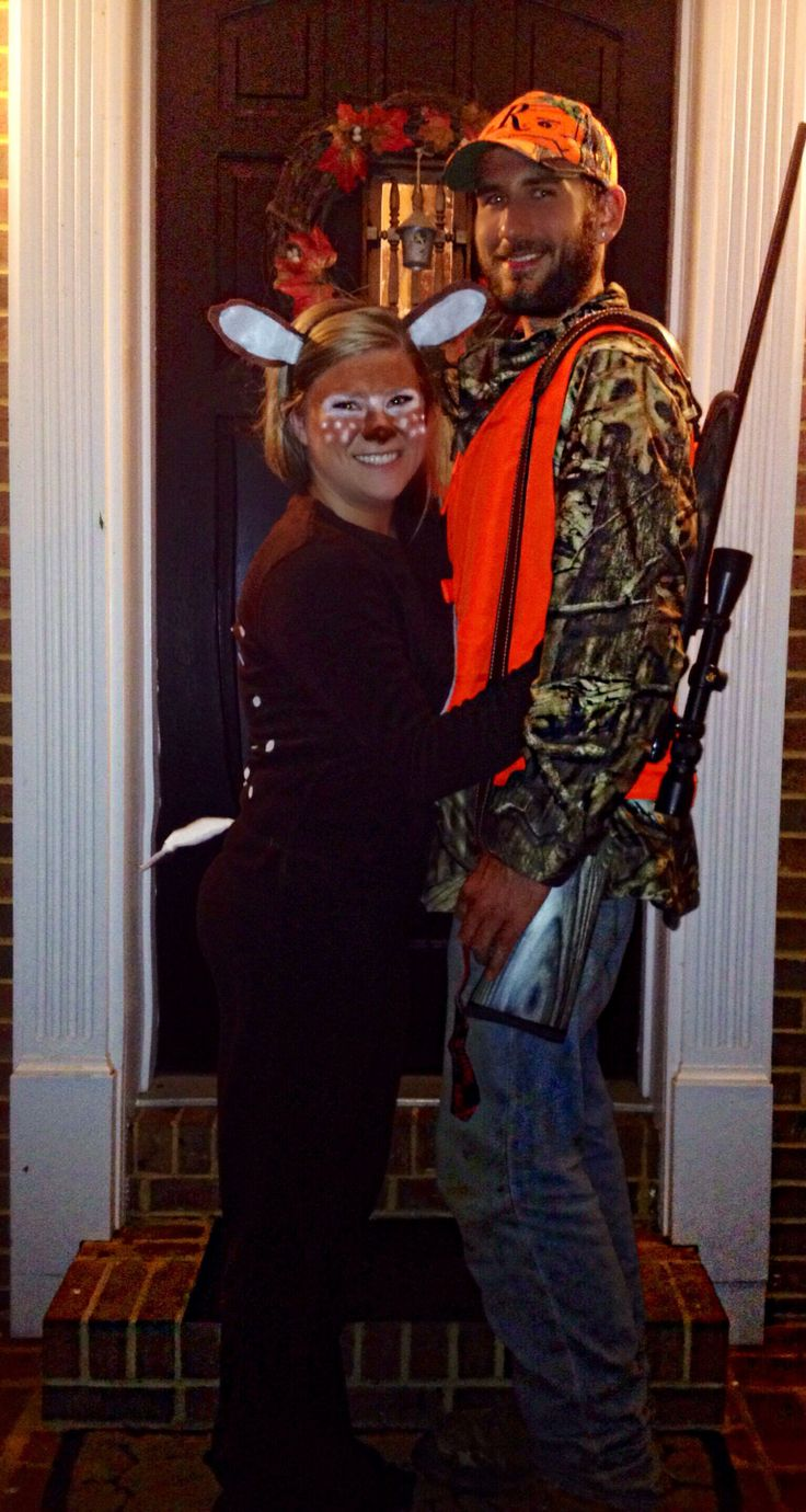 Hunter and deer Halloween costume with the boyfriend :)