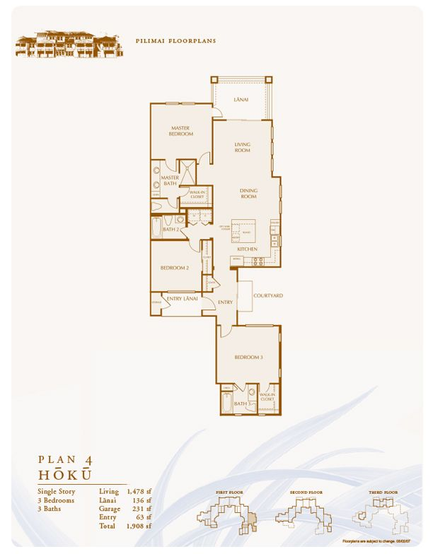 Pilimai Floor Plans New Homes in Hawaii – Cluster Home Floor Plans