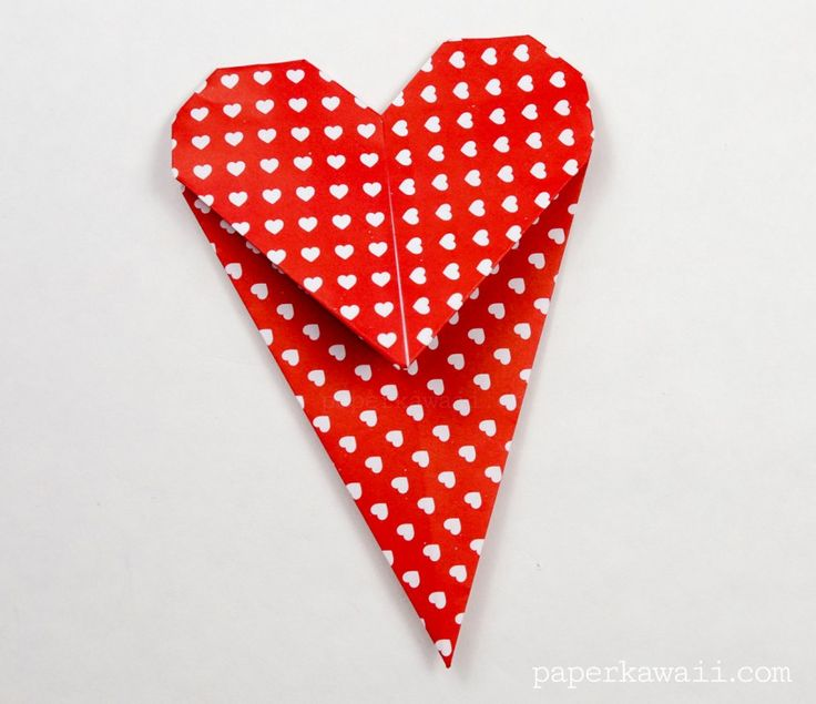 how to make a paper heart bookmark
