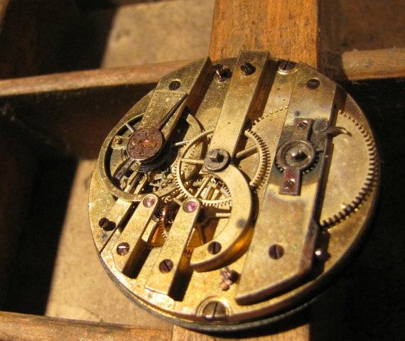 Beautiful XIXth century watch mechanism  by vintageclockwork, $40.00