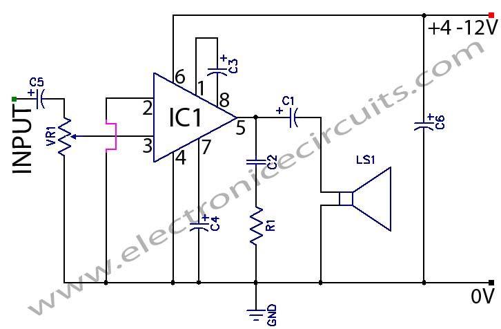lm386 low voltage audio power amplifier circuit electric 3 transistor audio amplifier low power audio amplifier using 555 timer