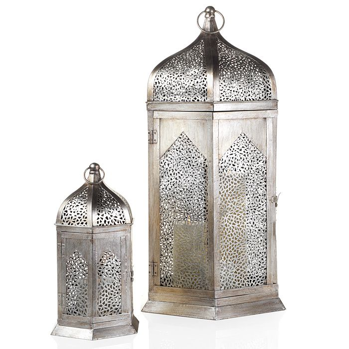 Moroccan Lanterns Originally From Zgallerie Silver