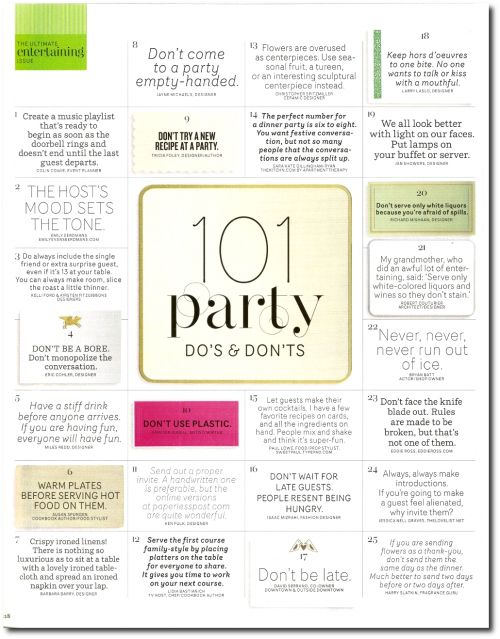 Party Tips: Do and Don't