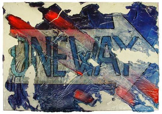 La route en bleu