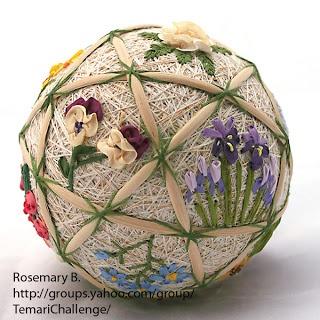 free style temari  floweres