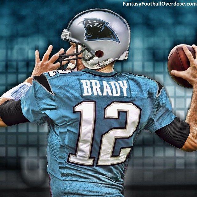 NFL Jersey Swap: Tom Brady in a Carolina Panthers Jersey ...
