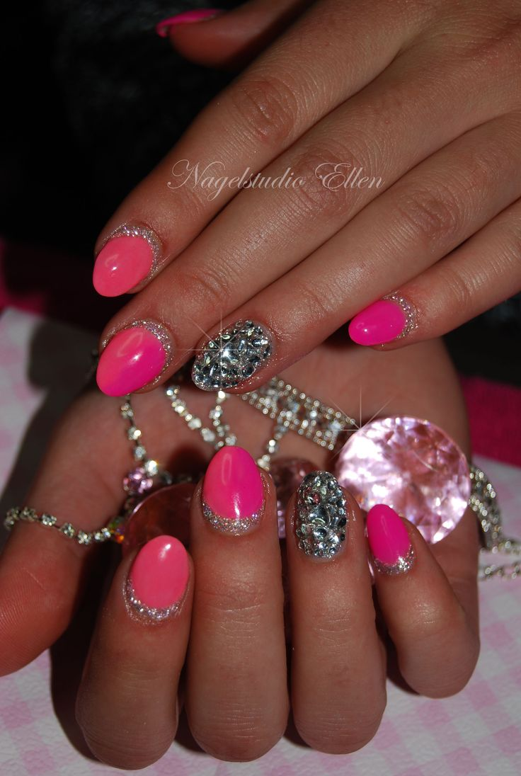 About baby boomer nail art tutorial by nded on pinterest nail art - Pink And Diamonds Nails
